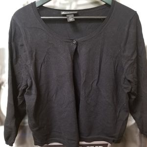 Cropped single button cardi #15